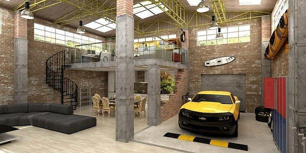 Cool Dream Garage in house