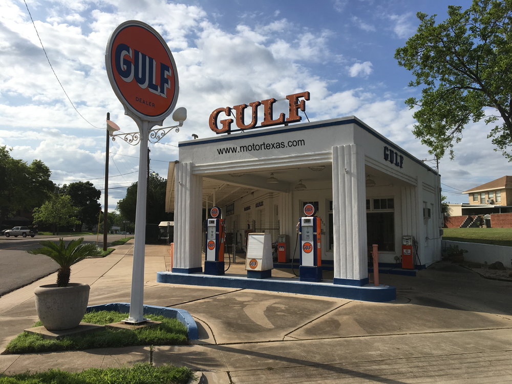 waco restored historic gulf service station