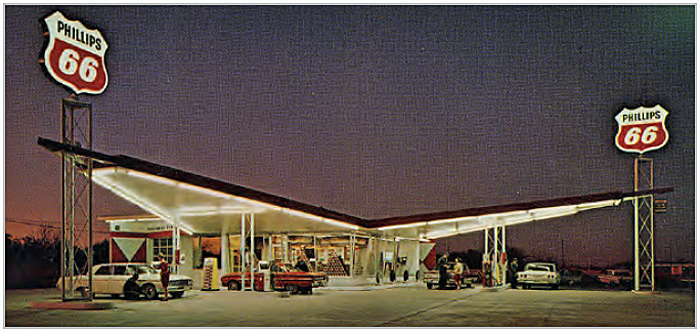 Phillips 66 service station architecture